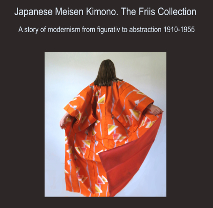 japanese, meisen, kimono, friis collection, modrnism, 1910 to 1955